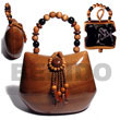 Summer Accessories Collectible Handcarved SMRAC023ACBAG Summer Beach Wear Accessories Acacia Hand Bags