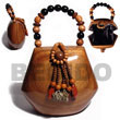 Summer Accessories Collectible Handcarved SMRAC025ACBAG Summer Beach Wear Accessories Acacia Hand Bags