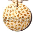 Summer Accessories 50mm Round Coco Pendant   SMRAC5414P Summer Beach Wear Accessories Coco Pendants