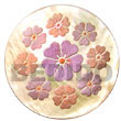 Summer Accessories Round 40mm mother of pearl   Handpainted SMRAC5297P Summer Beach Wear Accessories Hand Painted