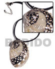 Summer Accessories Black Leather Thong With SMRAC3339NK Summer Beach Wear Accessories Shell Necklace